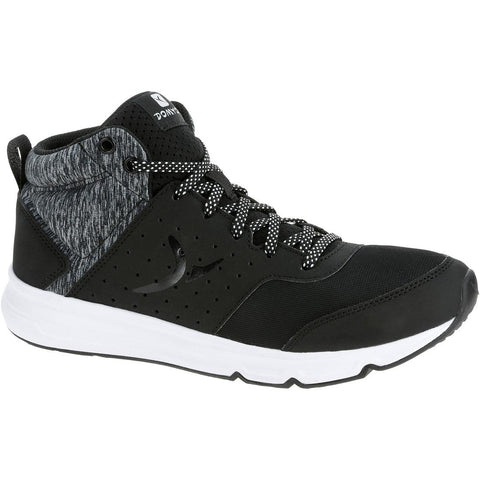 DOMYOS - 360 Support 2.0 Women's Fitness Shoes - Black/Mottled Grey
