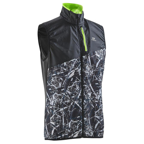 KALENJI - Men's Trail Running Sleeveless Windproof Jacket - Black/Graph