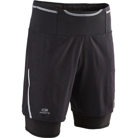 KALENJI - Men's Trail Running Baggy Shorts with Inner Lining
