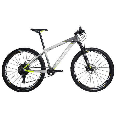 ROCKRIDER - Adult Mountain Bike - Rockrider 920 - Light Grey/Lime