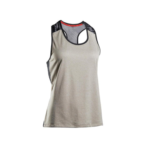 Women's Lightweight Breathable Boxing Tank Top 500 - Grey