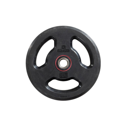 DOMYOS - Rubber Weight Disc With Handles (28mm-10Kg)
