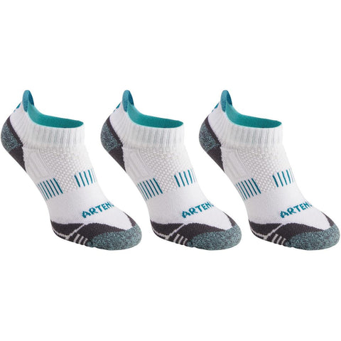 ARTENGO - RS 900 Adult Low Sport Socks Tri-Pack - White/Green