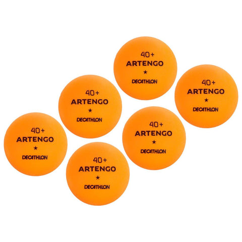 ARTENGO - TBT 100 40+ Table Tennis Balls 6-Pack