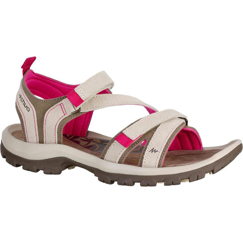 QUECHUA - NH 120 Women's Hiking Leather Sandal