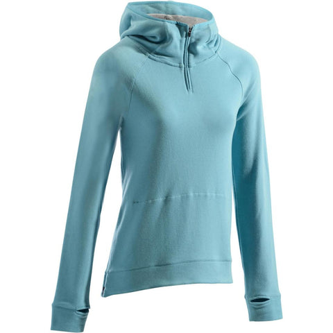 DOMYOS - 900 Women's Pilates Hooded Sweatshirt