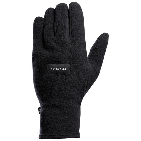 FORCLAZ - Adult Mountain Trekking Fleece Gloves Trek 100 - black