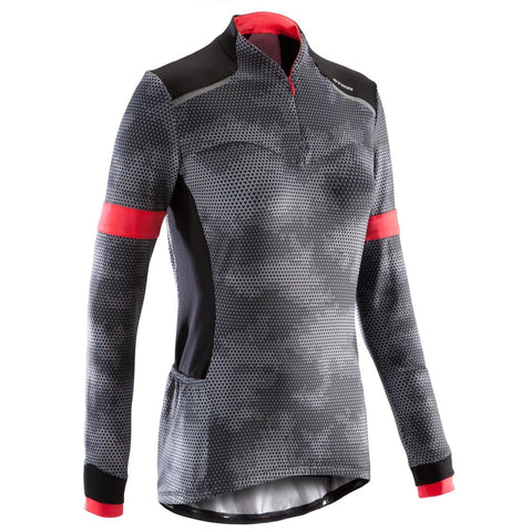 TRIBAN - Triban 500 Women's Long-sleeved Road Cycling Jersey