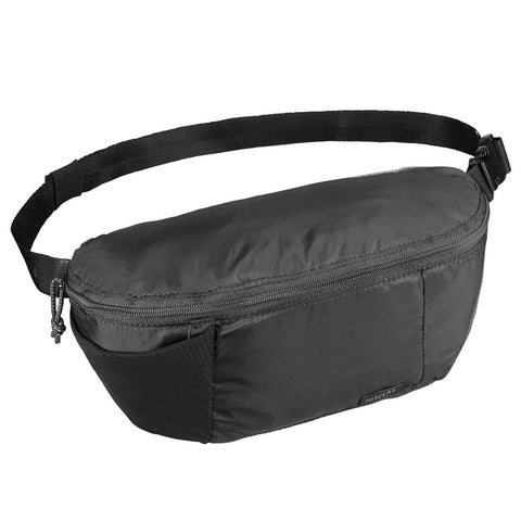 Compact 2 litre trekking travel bumbag TRAVEL 100 - Black