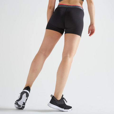 DOMYOS - 100 Women's Fitness Cardio Training Shorts - Black