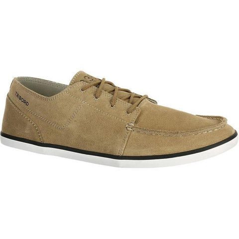 TRIBORD - Kostalde Men's Leather Boat Shoes - Beige