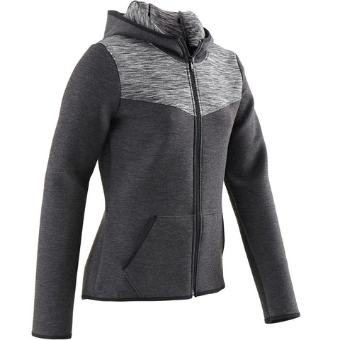 DOMYOS - 500 Girl's Warm & Breathable Gym Cotton Jacket