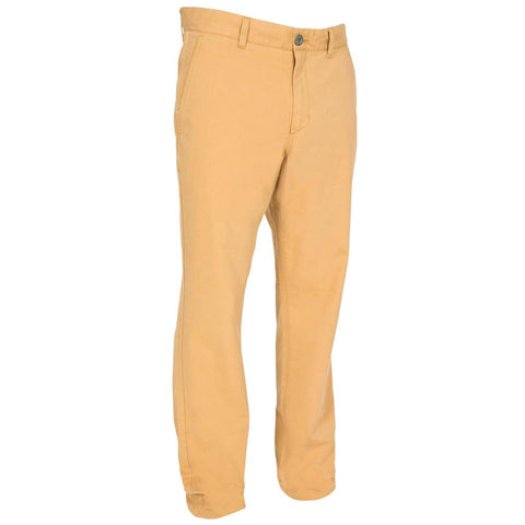 TRIBORD - Kostalde men's cotton trousers with sun protection factor 40+ - Camel