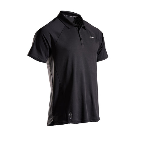 Men's Tennis Polo Shirt TPO 500 Dry - Black