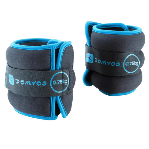 DOMYOS - Pilates Adjustable Wrist & Ankle Weights (0.75Kg)