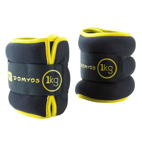 DOMYOS - Pilates Adjustable Wrist & Ankle Weights (1Kg)