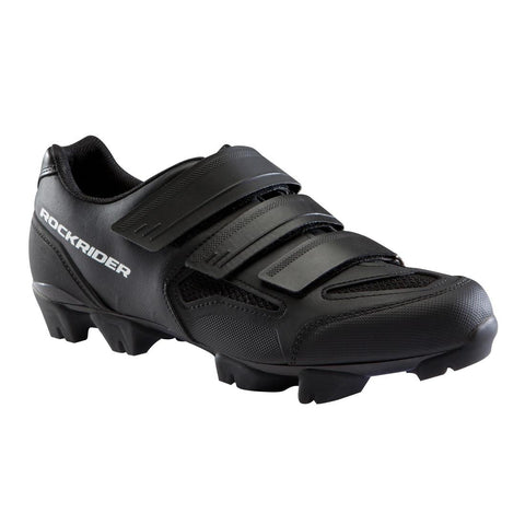 ROCKRIDER - Adult Mountain Bike Shoes - XC 100 - Black