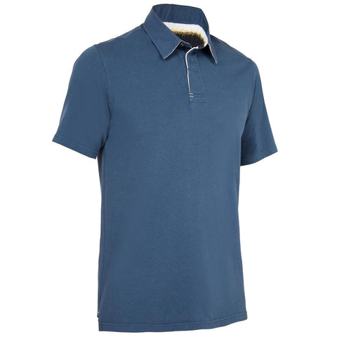 TRIBORD - Kostalde men's short sleeve polo shirt with sun protection 40+ - medium blue
