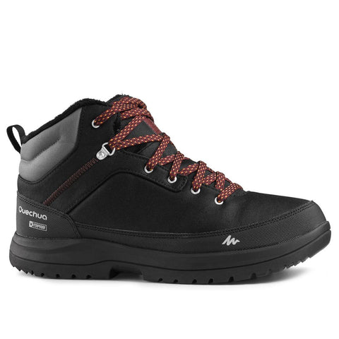 QUECHUA - Men's snow hiking mid boots SH100 warm - Black.