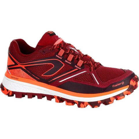 KALENJI - KIPRUN TRAIL MT WOMEN'S TRAIL RUNNING SHOES BURGUNDY