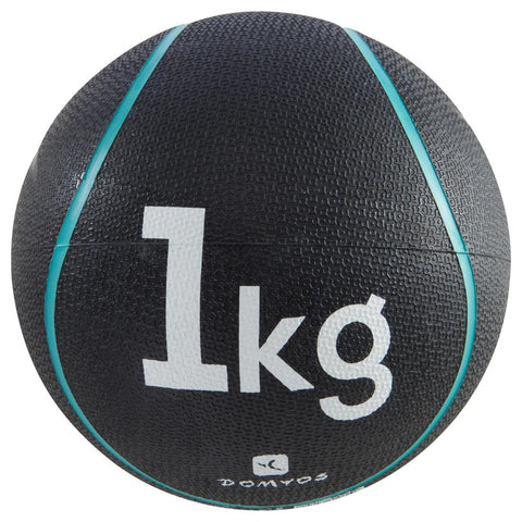 DOMYOS - Gym & Pilates Weighted Medicine Ball (1Kg)