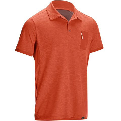 Travel 100 Men's Trekking Short-sleeved Polo Shirt