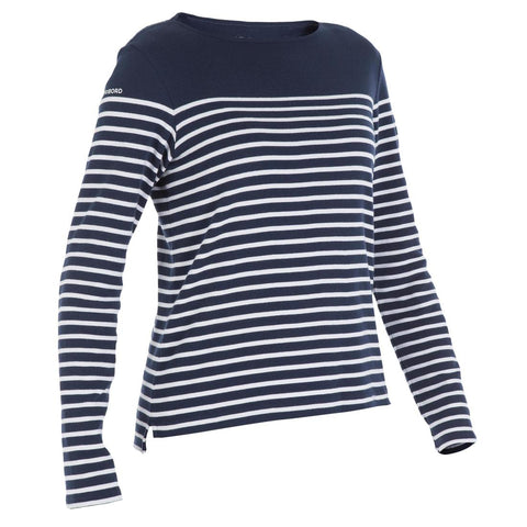 TRIBORD - 100 Women's Long Sleeve Sailing T-Shirt - Blue