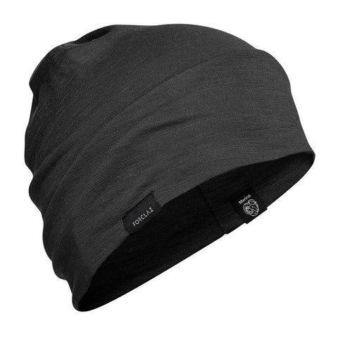Mountain Trekking Merino Wool Hat Trek 500 - Black