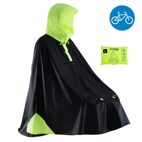 B'TWIN - 500 City Cycling Rain Poncho