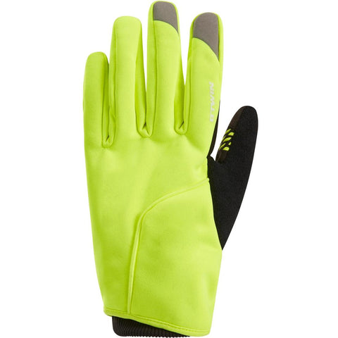 TRIBAN - 500 Winter Cycling Gloves - Neon Yellow
