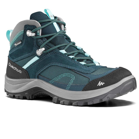 QUECHUA - MH 100 Mid Women's Waterproof Hiking Boots