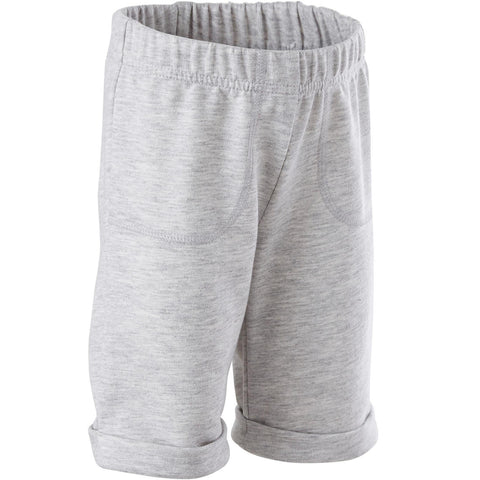 Baby Gym Shorts 500 - Grey