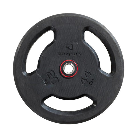DOMYOS - Rubber Weight Disc With Handles (28mm-20Kg)