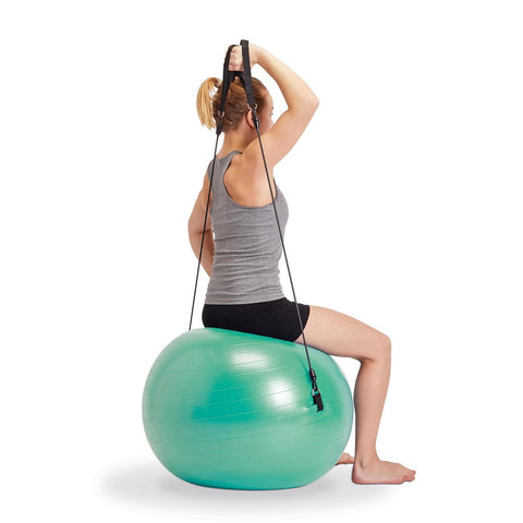 DOMYOS - 120 Small Pilates Ball With Elastics