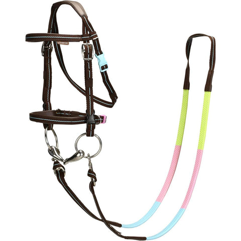 FOUGANZA - Initiation Horse Riding Pony Bridle & Reins