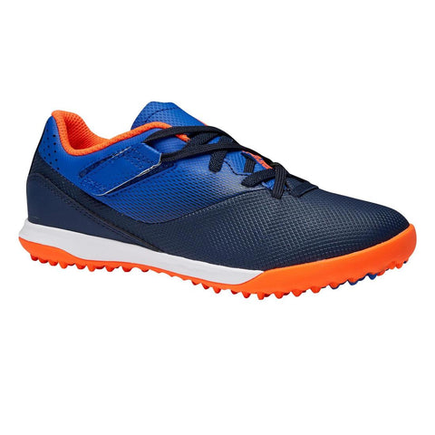 Agility 500 HG Kids' Hard Ground Rip-Tab Football Boots - Blue/Navy