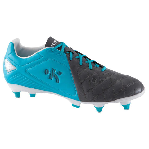 KIPSTA - Agility 700 Pro SG Adult Soft Ground Rugby Boots - Grey Blue White