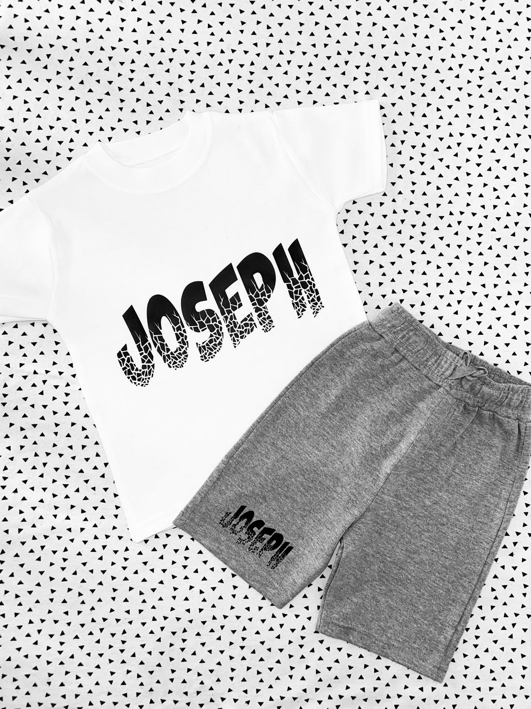 Crackle shorts & tee set