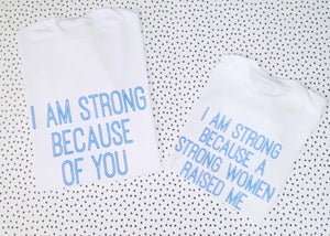 A Strong women raised me - Children's tee