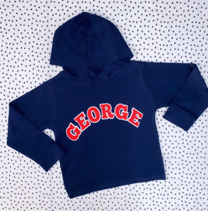 College cotton hoody