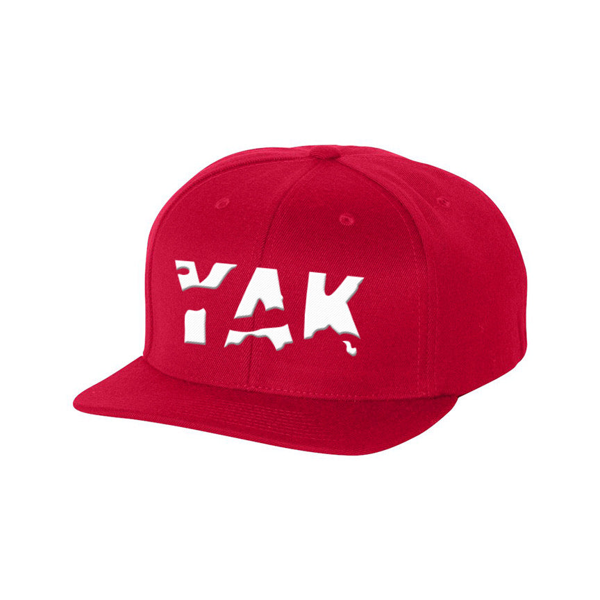 YAK Red/white lettering