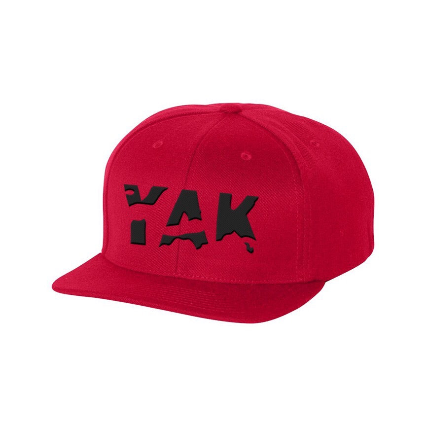 YAK Red/ black lettering