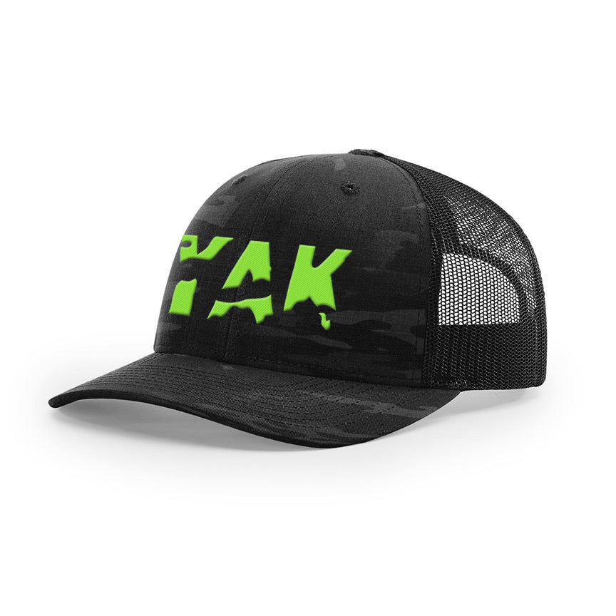YAK Black Camo w/lime