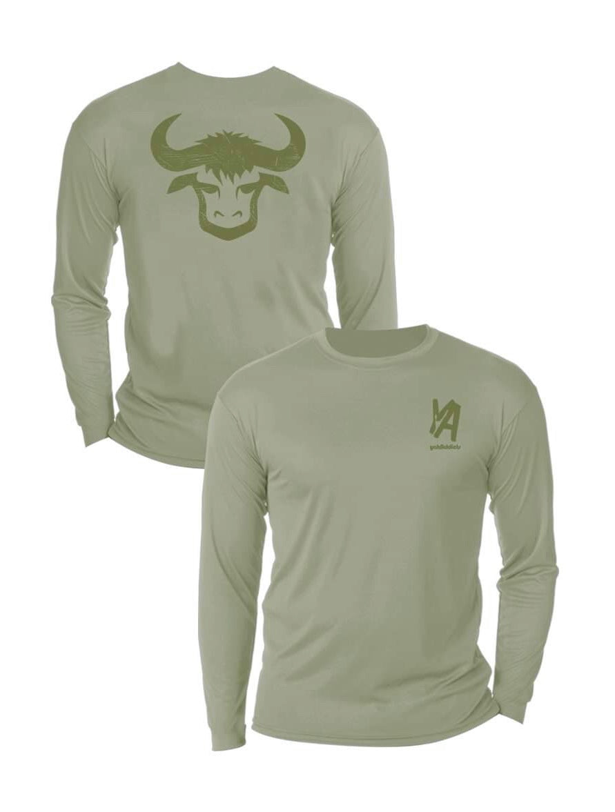 Green YakHead Performance Shirt