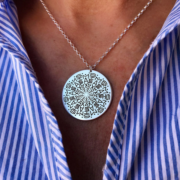 2 Name Namedala® - Mandala Name Necklace