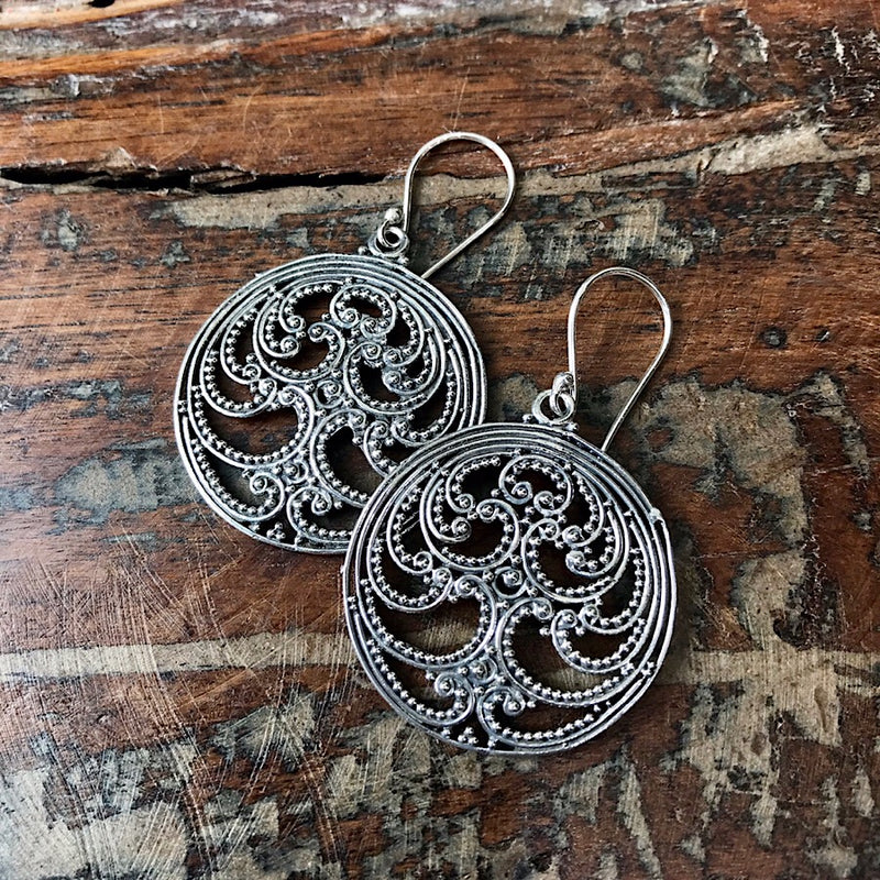 Tree of Peace Earrings - Sterling Silver - Quick Ship