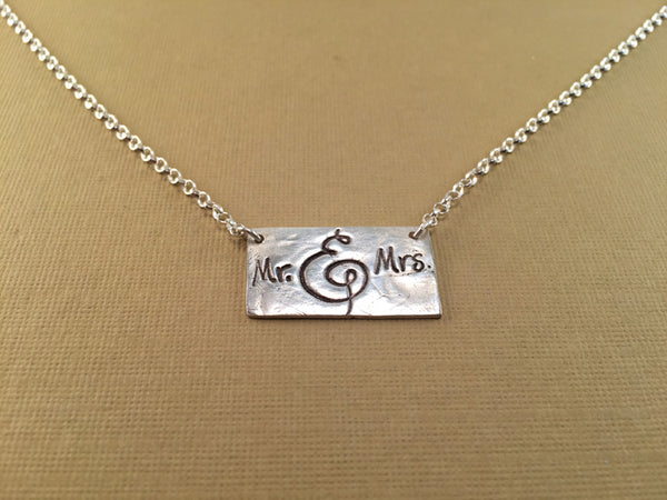 Mr and Mrs Necklace