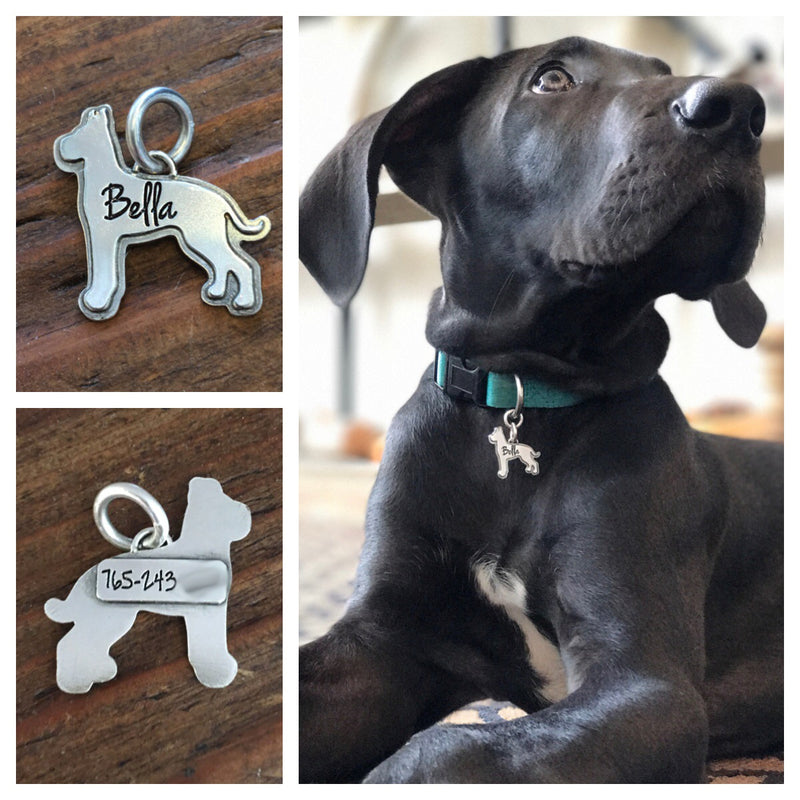 Sterling Silver Fur Baby Tag