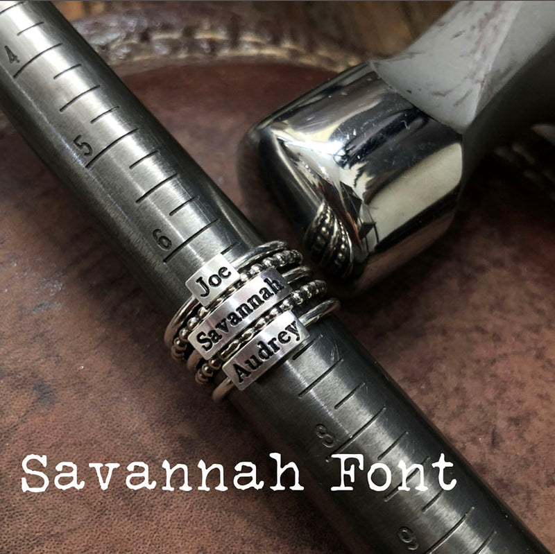 Say It On A Ring® - New Fonts