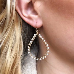 Lauren Freshwater Pearl Wrapped Earrings - Quick Ship